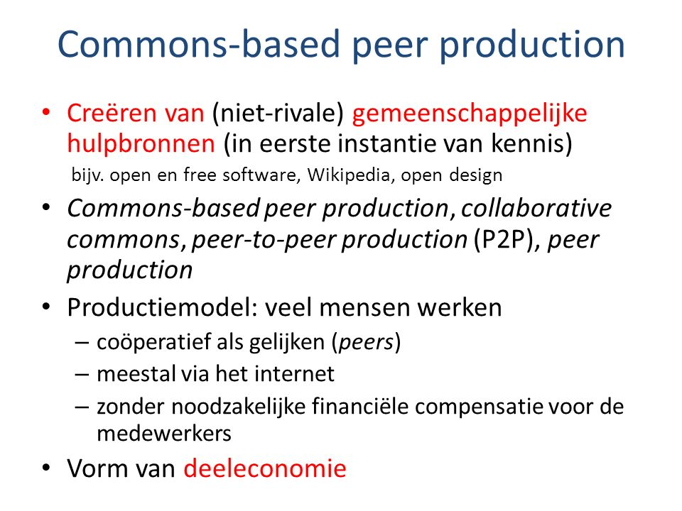 Commons-based peer production