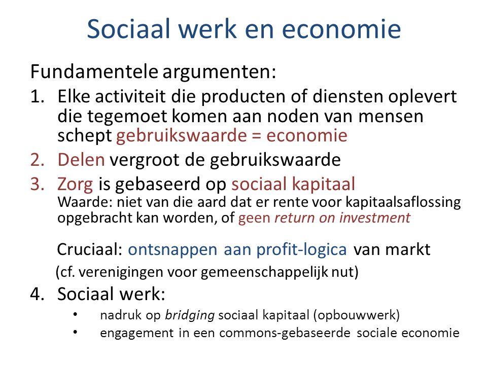 Sociaal werk en economie