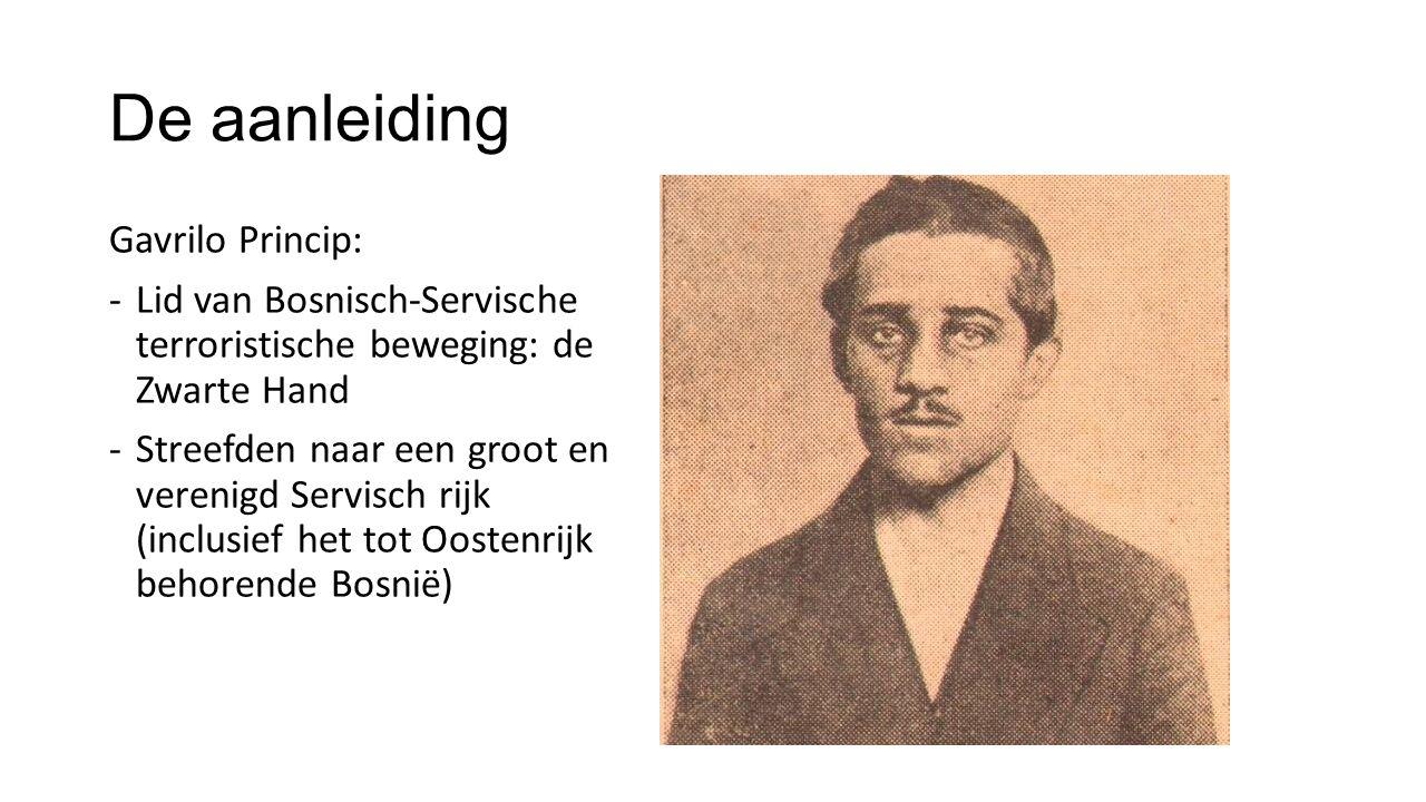 De aanleiding Gavrilo Princip: