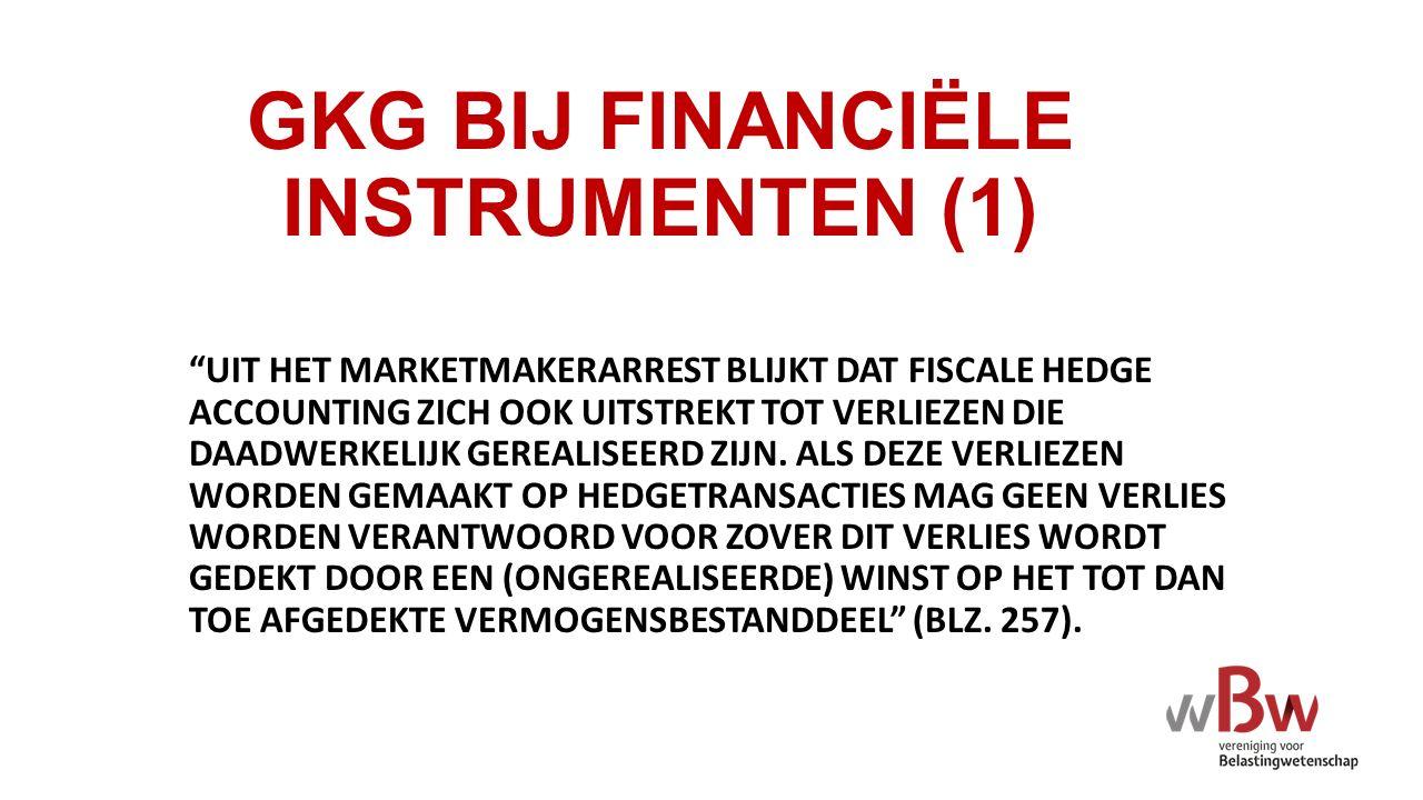 GKG BIJ FINANCIËLE INSTRUMENTEN (1)