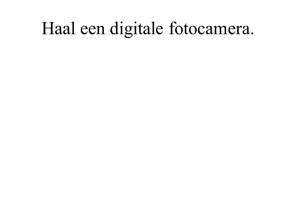 Haal een digitale fotocamera.