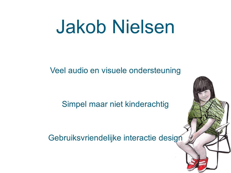 Jakob Nielsen Veel audio en visuele ondersteuning