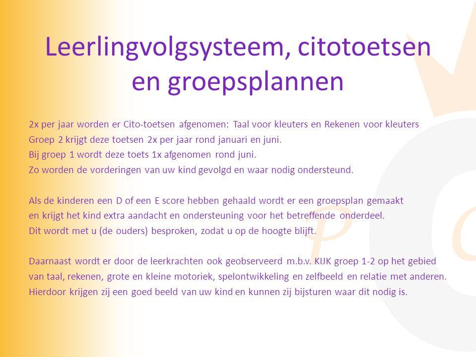 Leerlingvolgsysteem, citotoetsen en groepsplannen