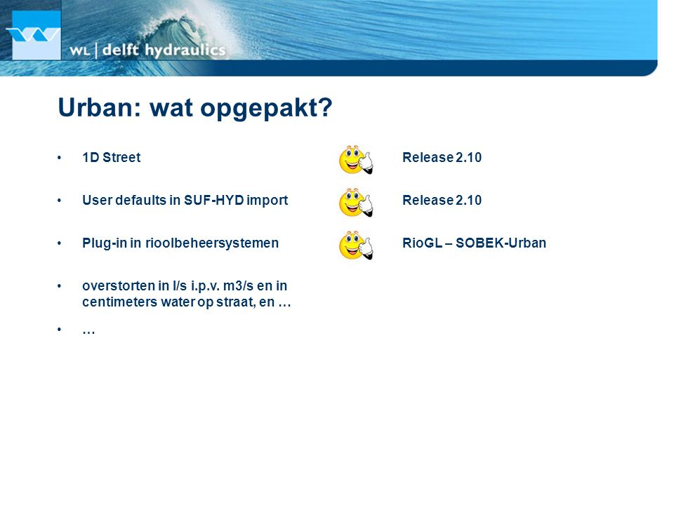 Urban: wat opgepakt 1D Street Release 2.10