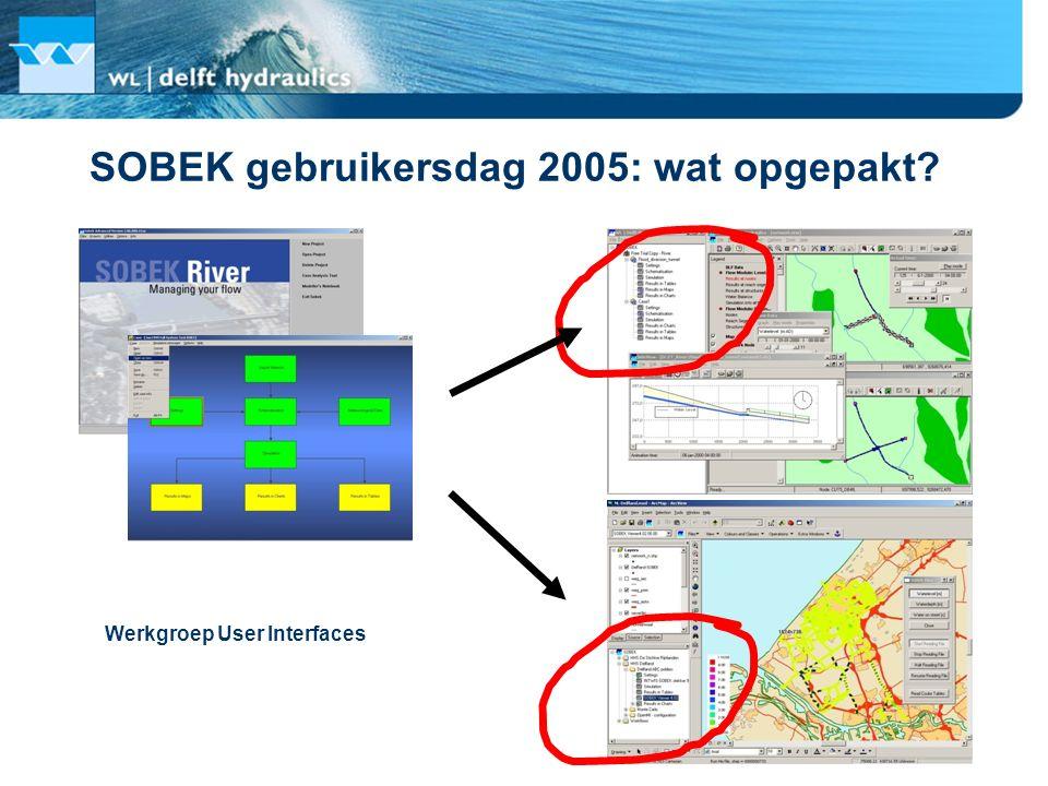 SOBEK gebruikersdag 2005: wat opgepakt