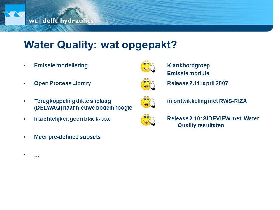 Water Quality: wat opgepakt