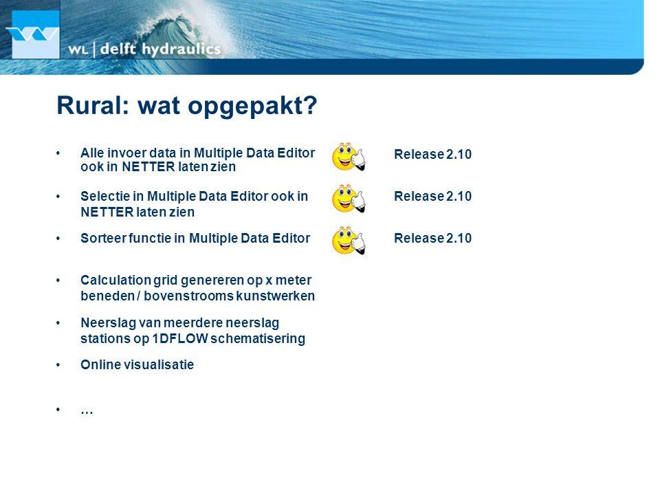 Rural: wat opgepakt Alle invoer data in Multiple Data Editor ook in NETTER laten zien. Release 2.10.