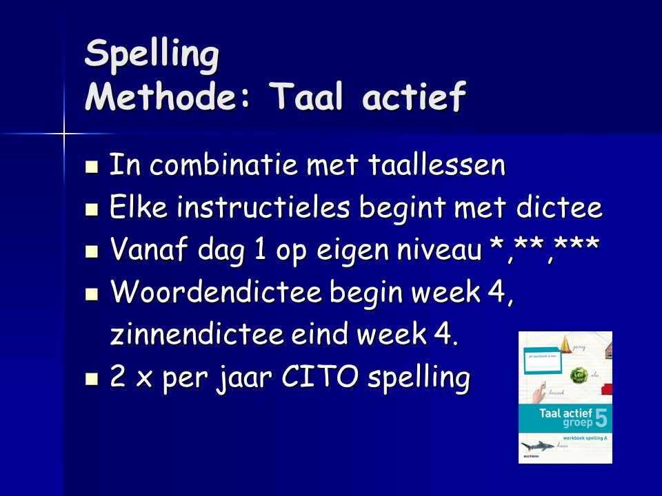 Spelling Methode: Taal actief