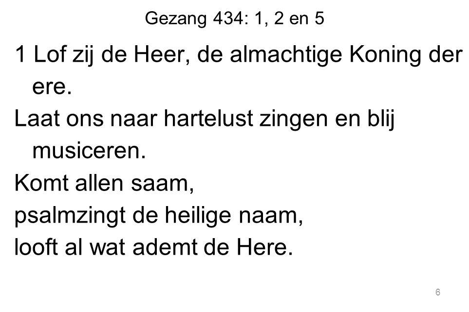 Gezang 434: 1, 2 en 5