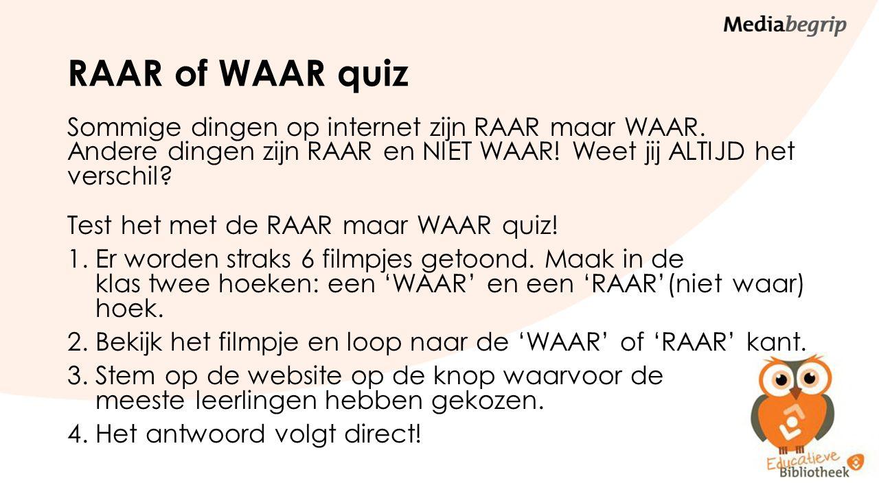RAAR of WAAR quiz