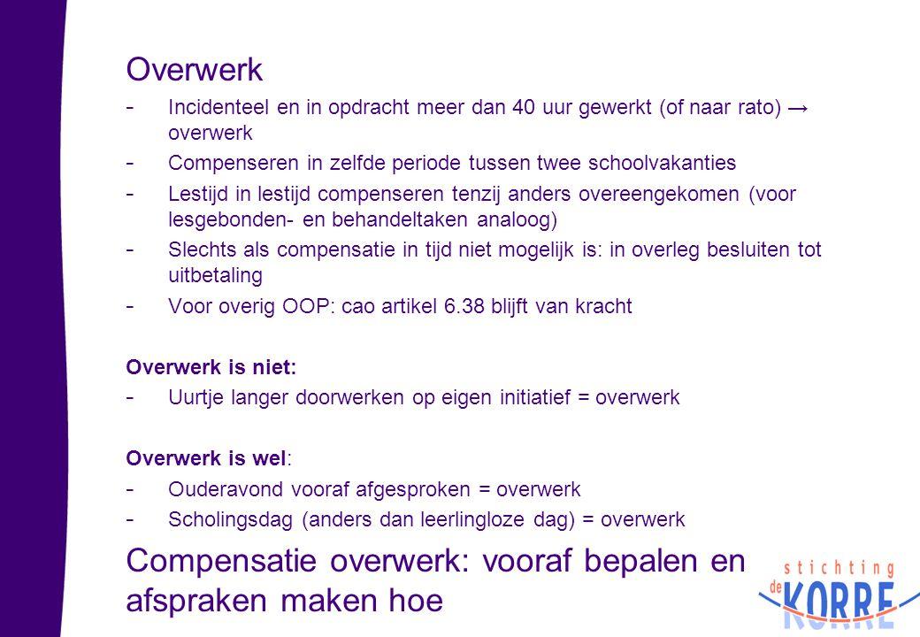 Compensatie overwerk: vooraf bepalen en afspraken maken hoe