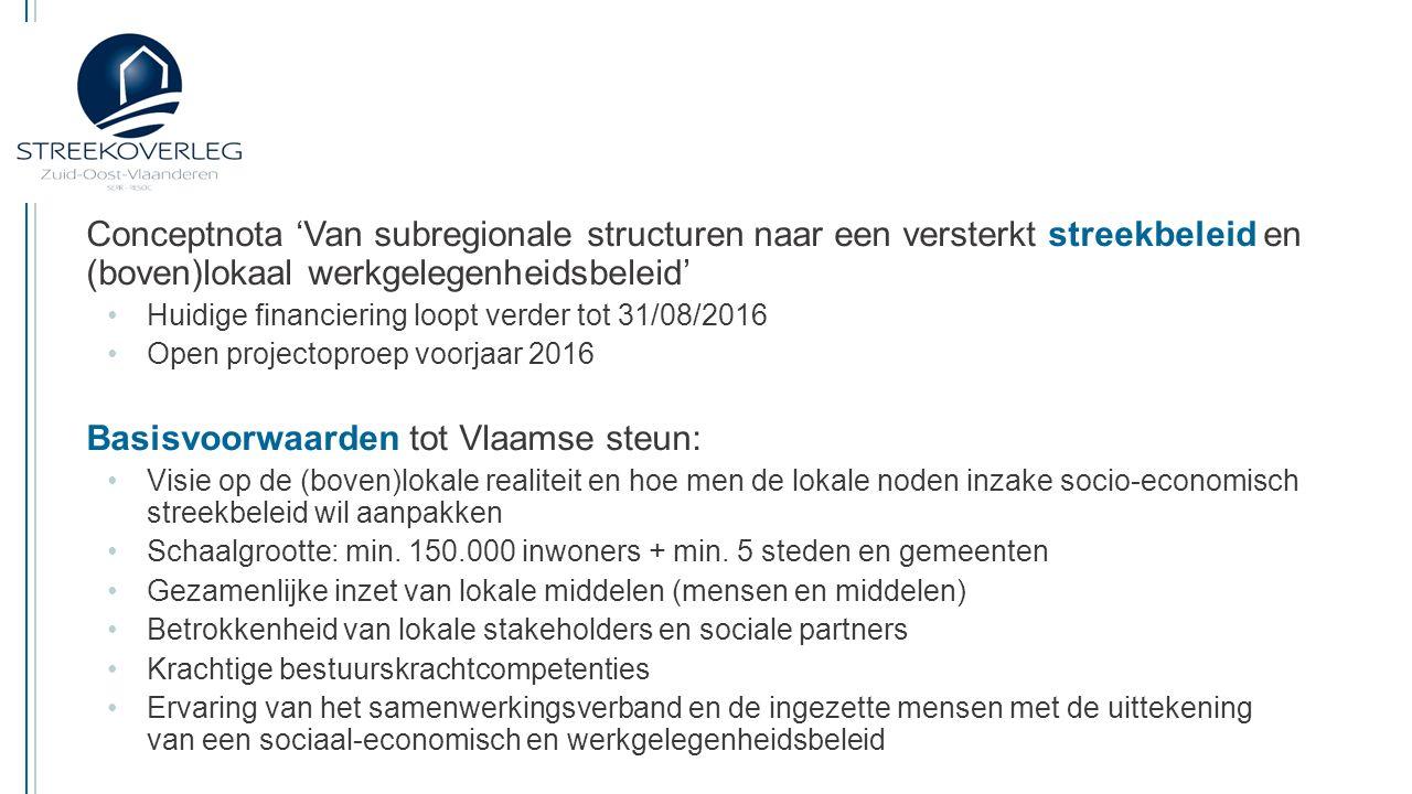 Basisvoorwaarden tot Vlaamse steun: