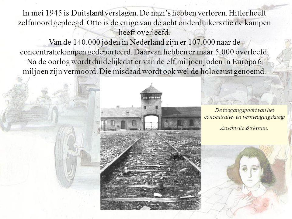 In mei 1945 is Duitsland verslagen. De nazi's hebben verloren