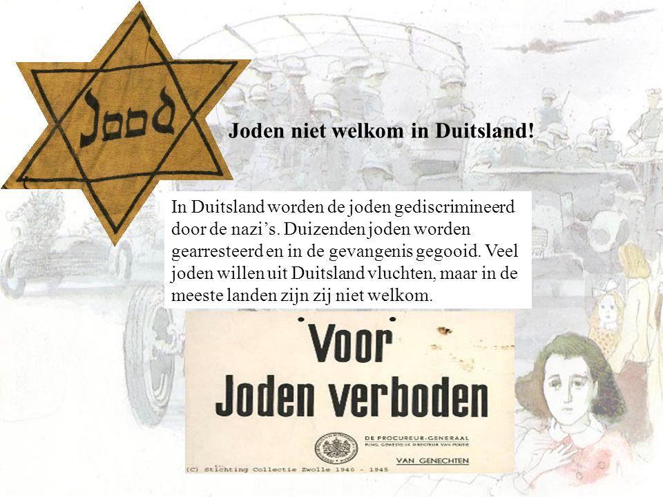 Joden niet welkom in Duitsland!