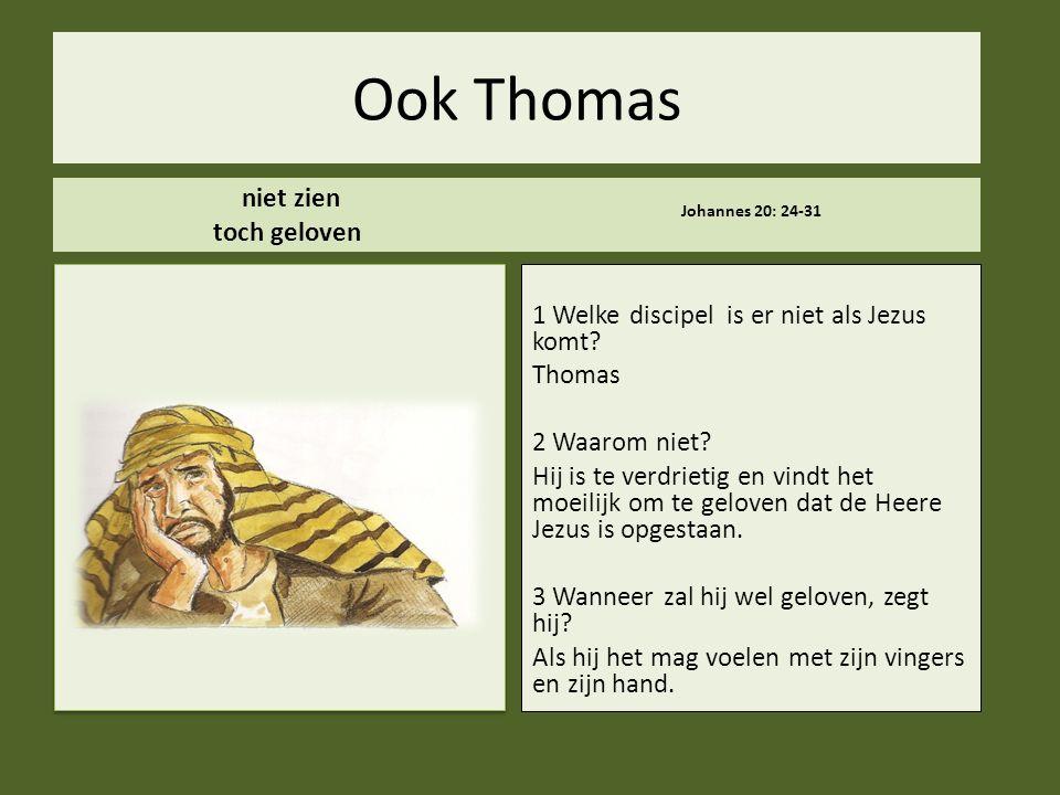 Ook Thomas niet zien toch geloven