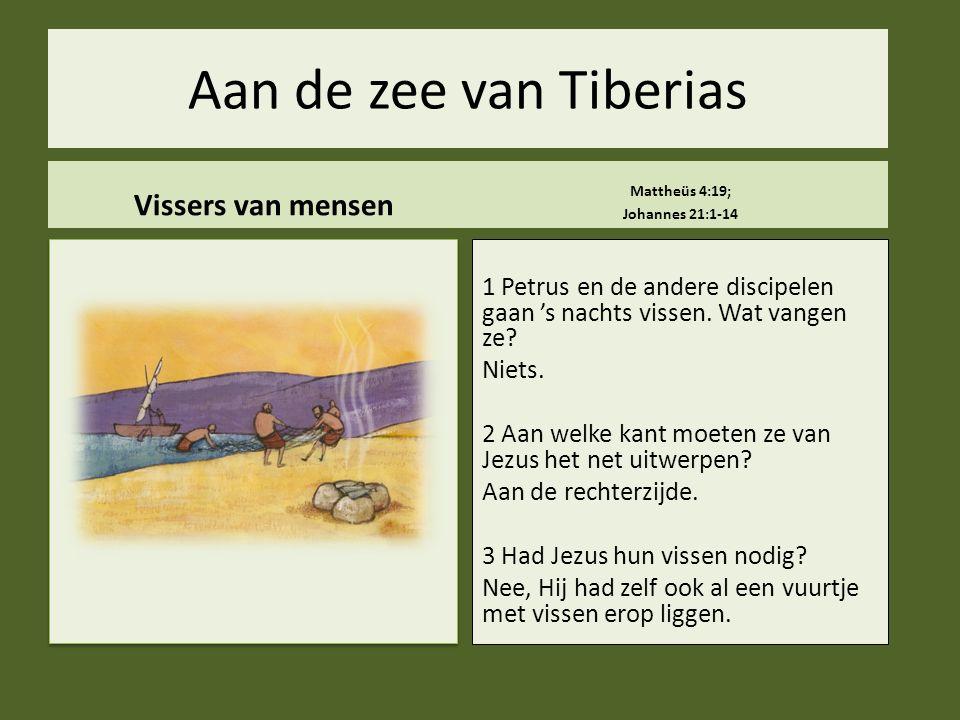 Aan de zee van Tiberias Vissers van mensen