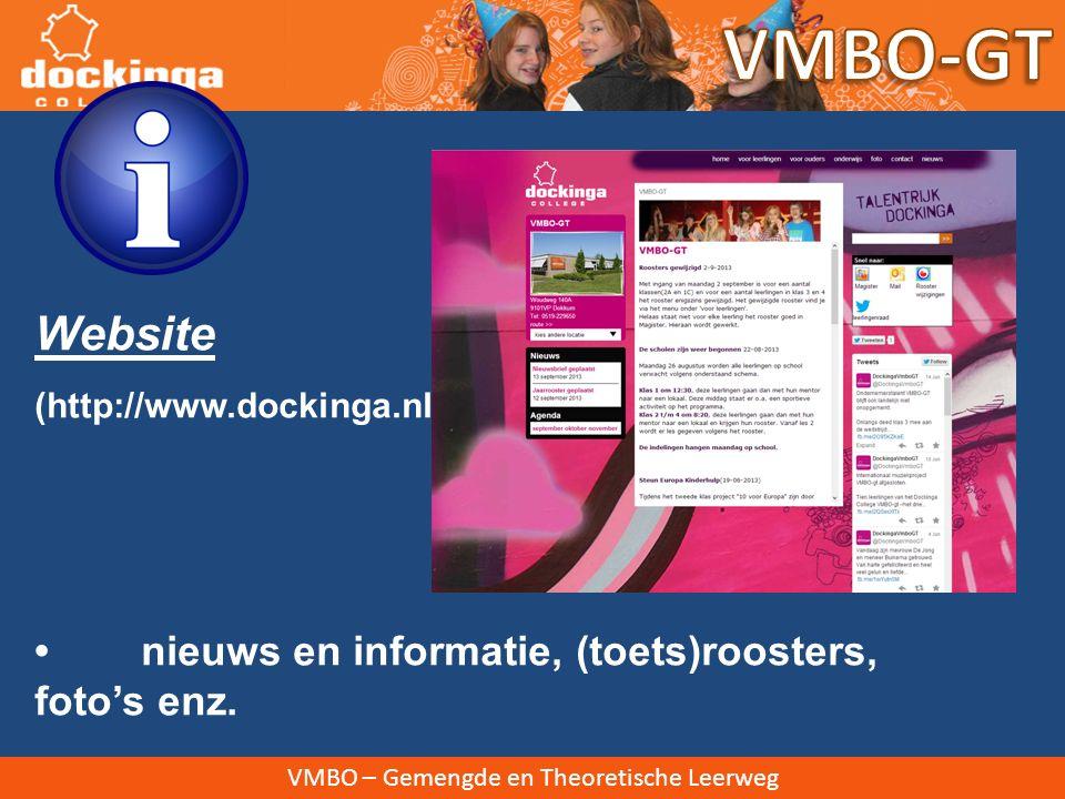 VMBO-GT Website • nieuws en informatie, (toets)roosters, foto's enz.