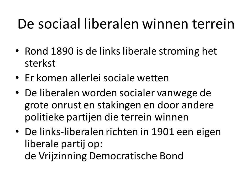 De sociaal liberalen winnen terrein