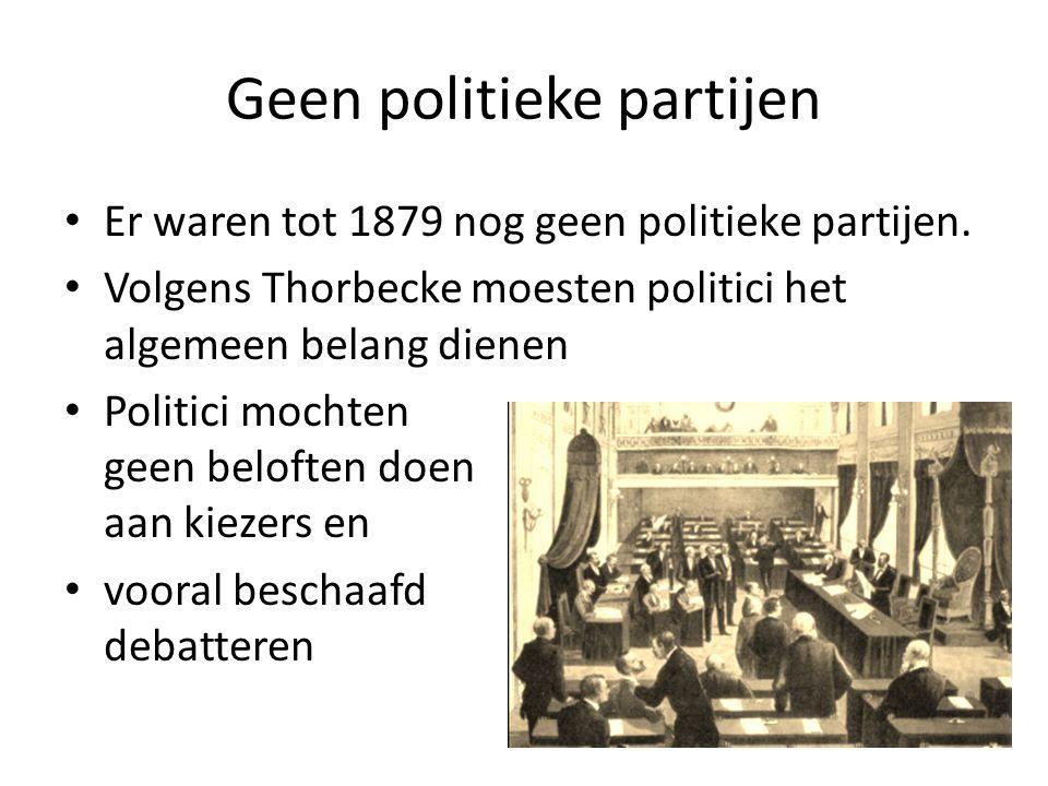 Geen politieke partijen