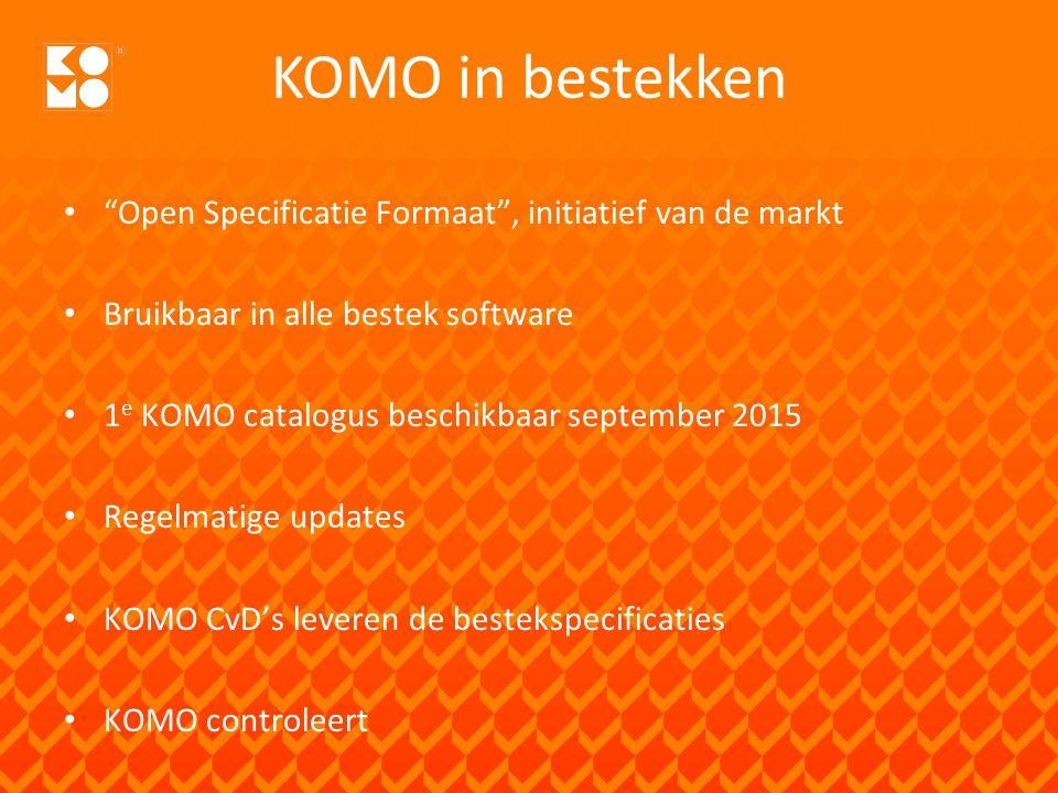 KOMO in bestekken Open Specificatie Formaat , initiatief van de markt