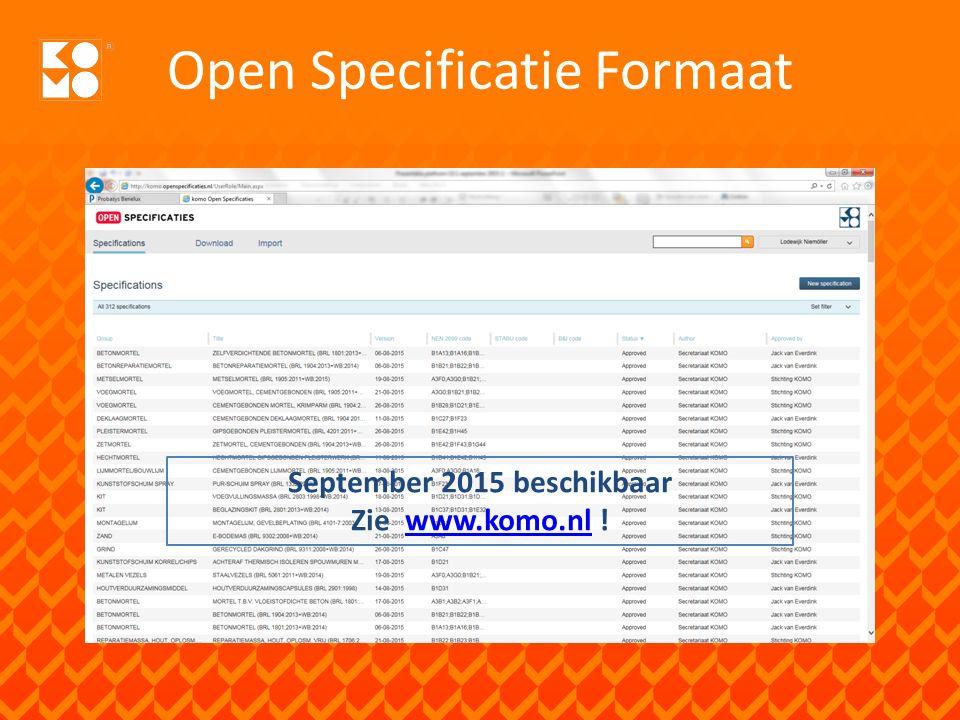 Open Specificatie Formaat