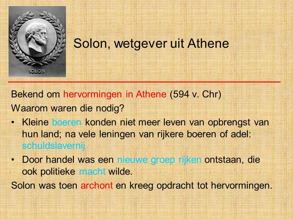 Solon, wetgever uit Athene