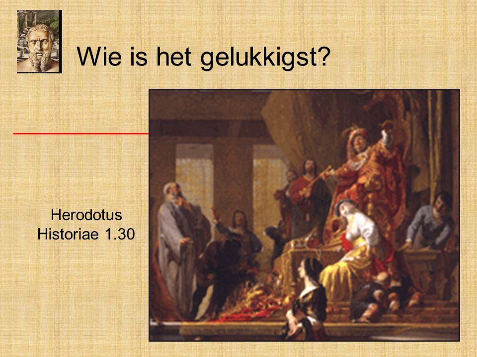 Wie is het gelukkigst Herodotus Historiae 1.30