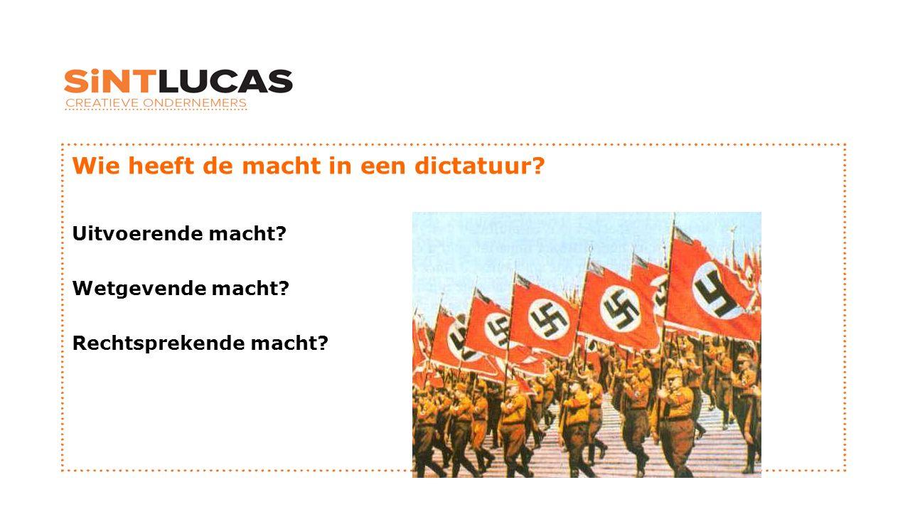 Wie heeft de macht in een dictatuur
