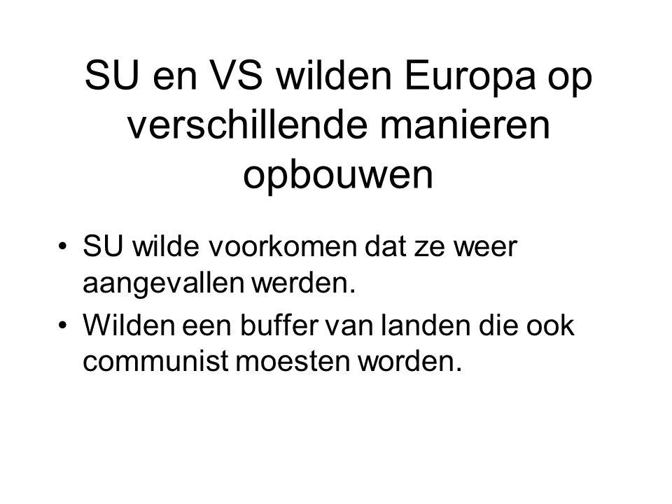 SU en VS wilden Europa op verschillende manieren opbouwen