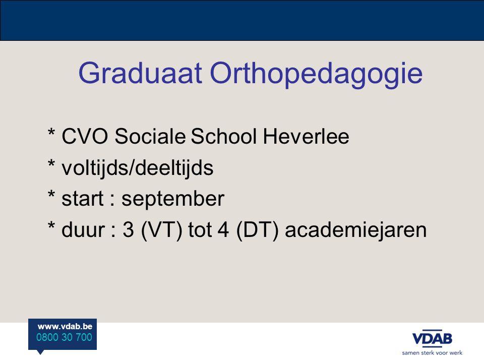 Graduaat Orthopedagogie