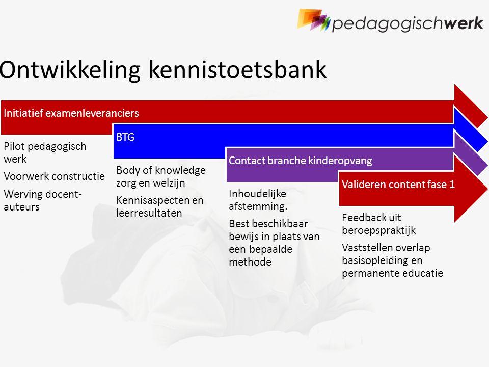 Ontwikkeling kennistoetsbank