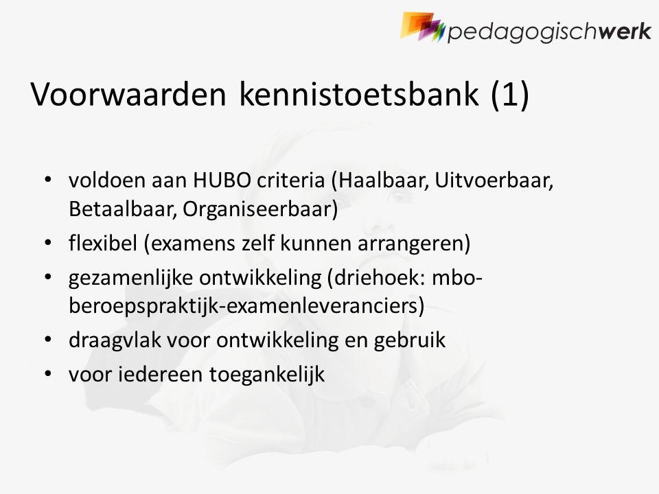 Voorwaarden kennistoetsbank (1)