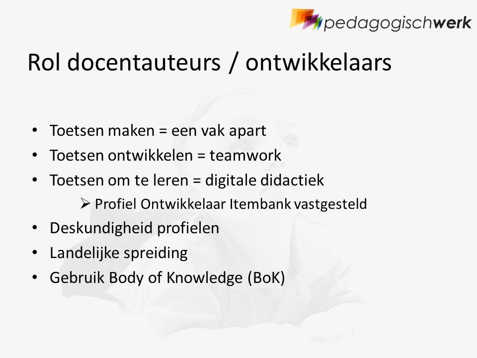 Rol docentauteurs / ontwikkelaars