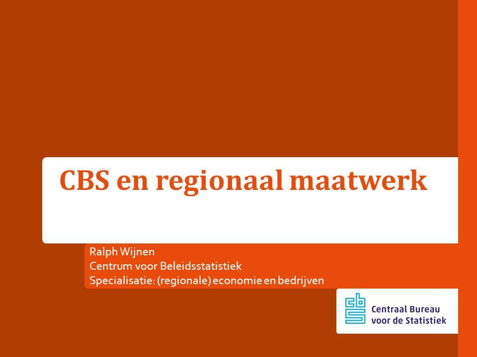 CBS en regionaal maatwerk