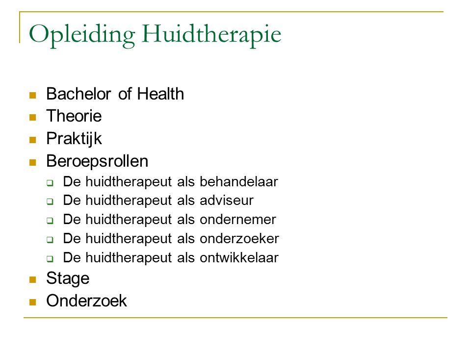 Opleiding Huidtherapie