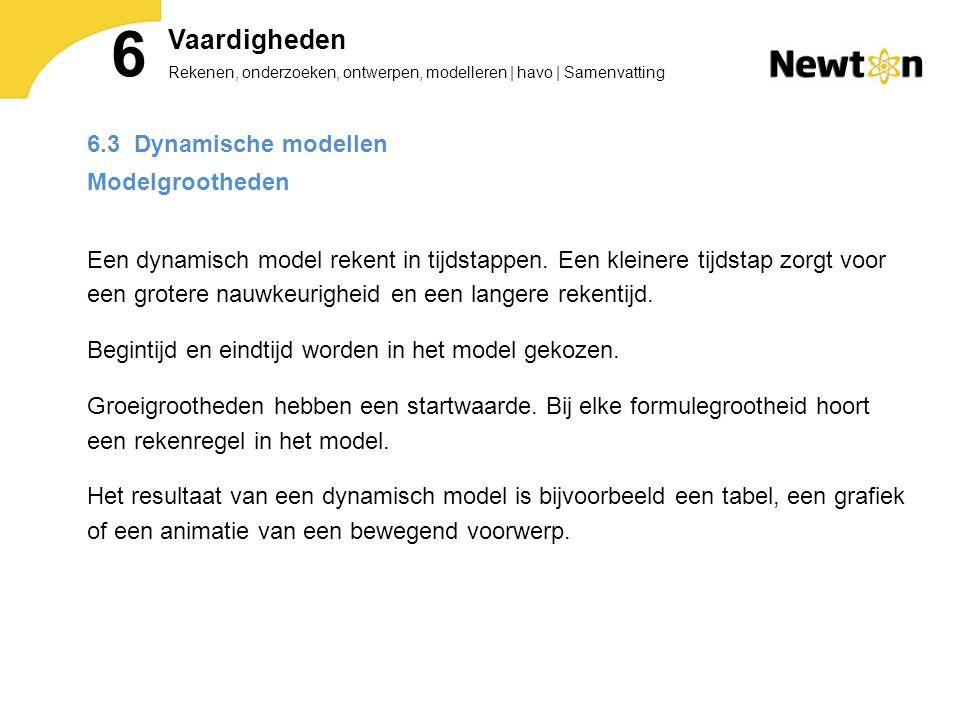 6 Vaardigheden 6.3 Dynamische modellen Modelgrootheden