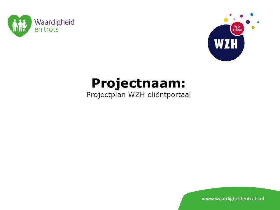 Projectplan WZH cliëntportaal