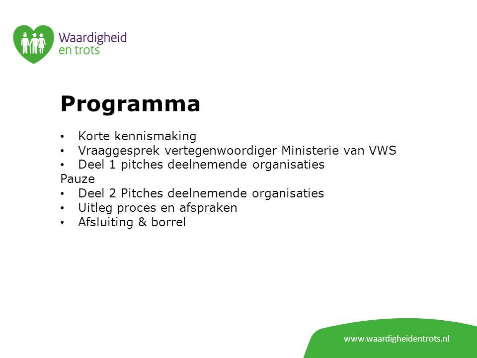 Programma Korte kennismaking