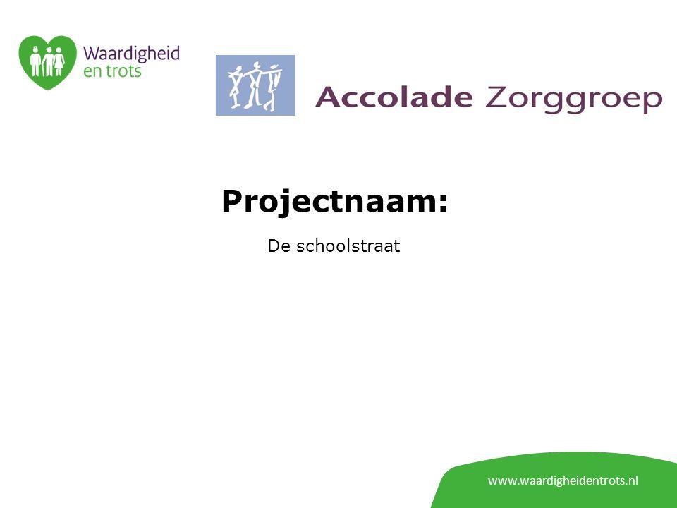 Projectnaam: De schoolstraat www.waardigheidentrots.nl
