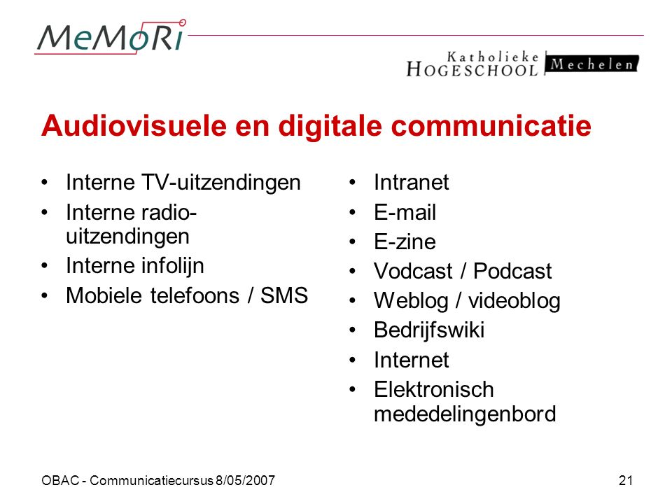 Audiovisuele en digitale communicatie