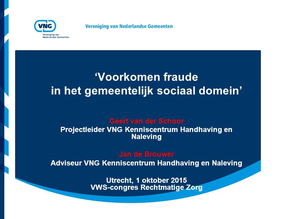 'Voorkomen fraude in het gemeentelijk sociaal domein'