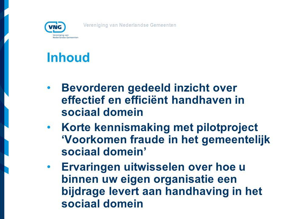 Inhoud Bevorderen gedeeld inzicht over effectief en efficiënt handhaven in sociaal domein.