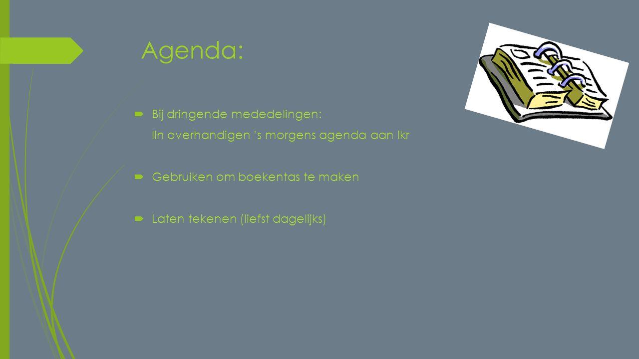 Agenda: Bij dringende mededelingen: