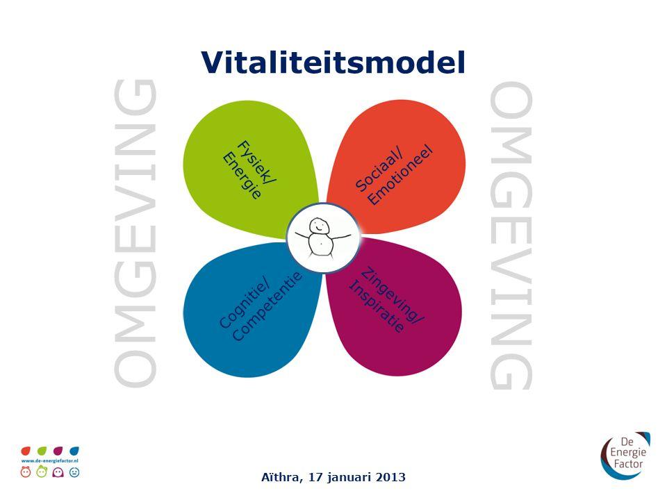 OMGEVING OMGEVING Vitaliteitsmodel Fysiek/ Energie Sociaal/ Emotioneel