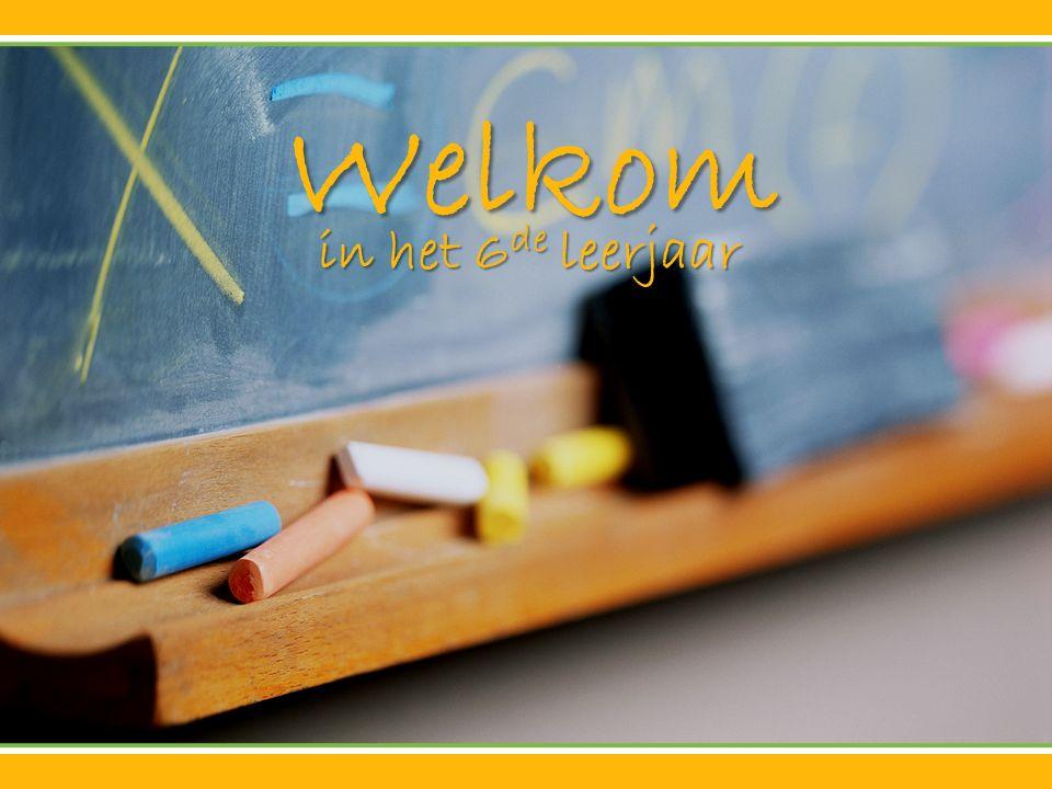 Welkom in het 6de leerjaar