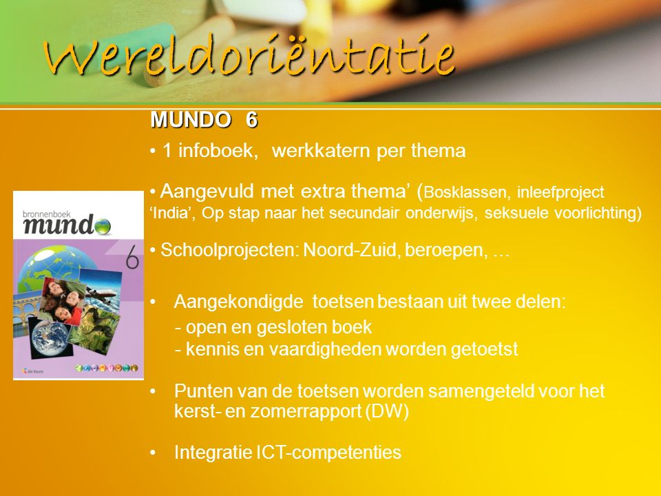 Wereldoriëntatie MUNDO 6 1 infoboek, werkkatern per thema