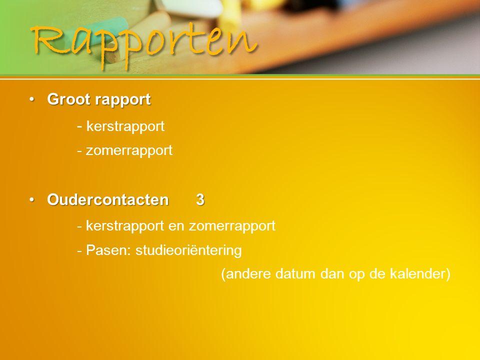 Rapporten Groot rapport - kerstrapport Oudercontacten 3