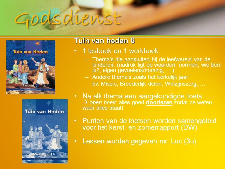 Godsdienst Tuin van heden 6 1 lesboek en 1 werkboek
