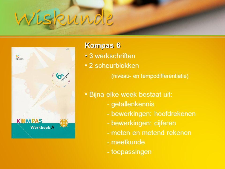 Wiskunde Kompas 6 3 werkschriften Bijna elke week bestaat uit: