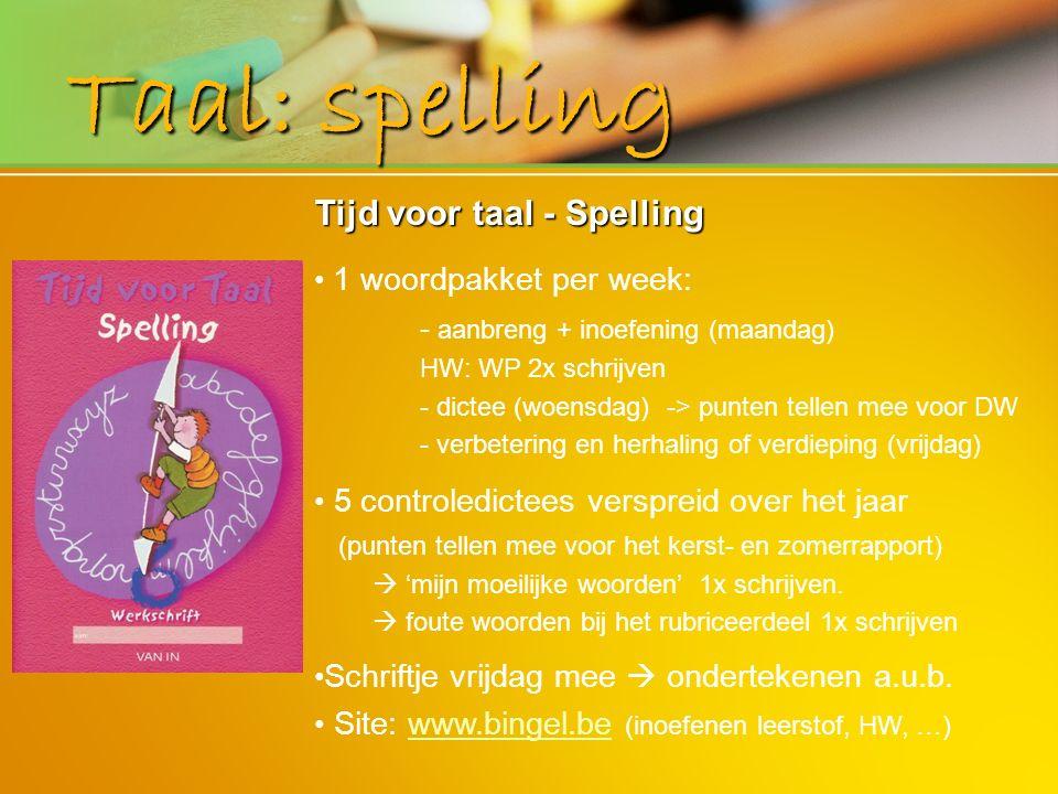 Taal: spelling Tijd voor taal - Spelling